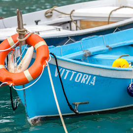 Vittoria by Adrian Bercea - Transportation Boats ( water, old, wood, blue, vittoria, boat )