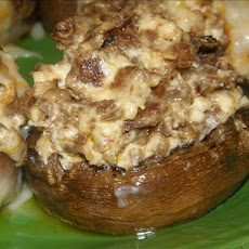 Stuffed Mushrooms With Cream Cheese & Sausage