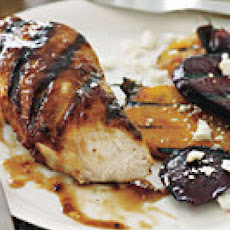 Apricot-Balsamic-Glazed Chicken with Grilled Beets
