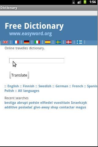 Dictionary English - European