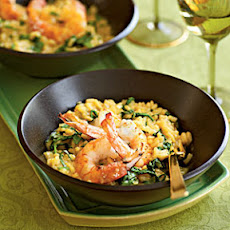 Pan-Seared Shrimp and Arugula Risotto