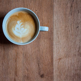 Woody Latte by Chris Hartley - Food & Drink Alcohol & Drinks ( #hot, #coffee, #rosetta, #latte, #mug, #drink )