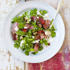 Lamb Tagliata With Watercress & Tomatoes