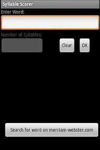 Syllable Scorer - screenshot