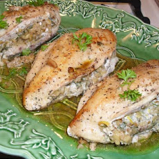 Chicken Breasts Stuffed With Basil Walnut Butter