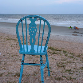 Have a seat by Judy Dean - Artistic Objects Furniture ( chair, blue, out of place, beach, furniture,  )