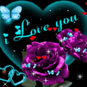 Purple Rose Blue Butterfly Liv icon