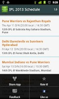 Screenshot of Cricket T20 Schedule