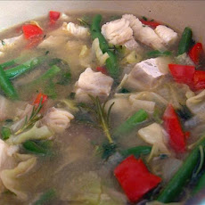 Vegetable-Cod Soup