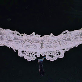 A precious heirloom  by Donna Wood - Wedding Bride ( lace, unique, one of a kind, choker, heriloom, wedding, crystal, bride, object, artistic, jewelry )