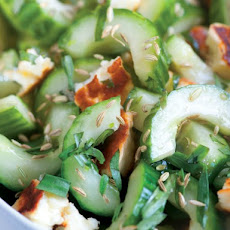 Ripe's Cucumber Halloumi Salad with Licorice Notes