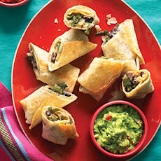 Poblano and Nopales Chimichangas