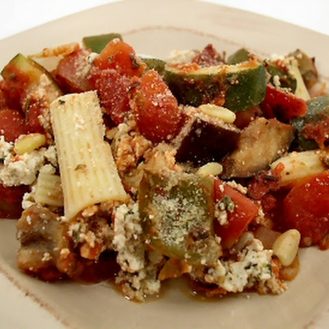 Rigatoni with Zucchini and Eggplant