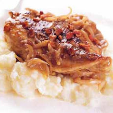Braised Chicken with Shallots, Garlic, and Balsamic Vinegar