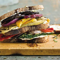 Grilled Vegetable and Goat Cheese Sandwiches Recipe