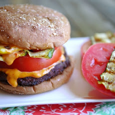 Spicy Black Bean Burger with Sriracha Mayonnaise