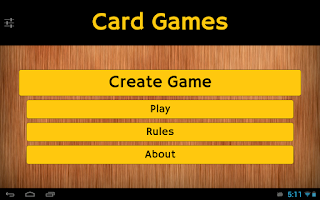 Screenshot of Card Games