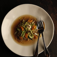 Spelt Spaghetti with Kombu and Onion Broth