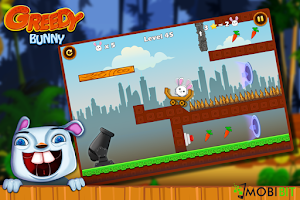 Screenshot of Greedy Bunny - Arcade Shooter