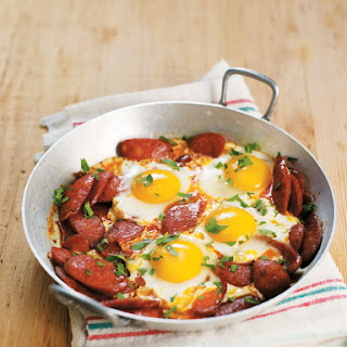 Chorizo and Parsley Eggs