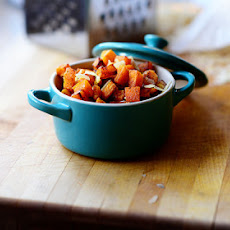 Roasted Butternut Squash with Pine Nuts and Parmesan