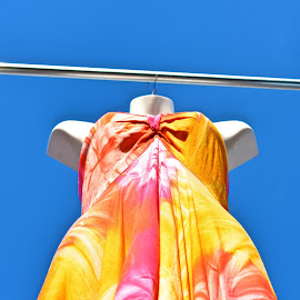 Dress and Sky by Allen Randall - Artistic Objects Clothing & Accessories ( sky, blue, dress, summer )