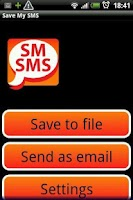 Screenshot of Save My SMS
