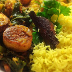Kale, Potato and Aubergine Vindaloo