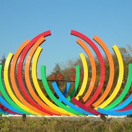 Circles of Color by Linda McCormick - Artistic Objects Other Objects ( orange, red, blue, colors, yellow, rainbow )