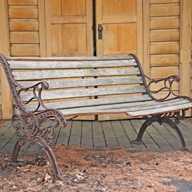Old bench by Mia Ikonen - Artistic Objects Furniture ( old, decorative, bench, finland, decaying )