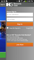 Screenshot of Holiday Inn Express Hotels