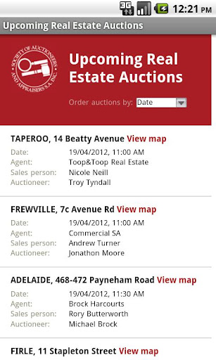 Upcoming Real Estate Auctions