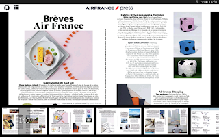 Screenshot of Air France Press