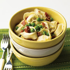 Lemony Tortellini with Peas and Prosciutto