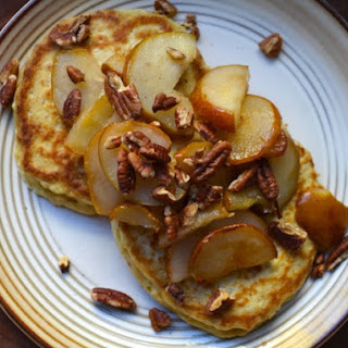 Oatmeal Pancakes With Pears and Pecans