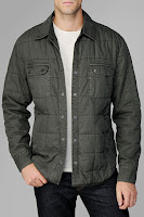 Grid Quilted  Jacket In Forest Night