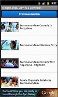 Screenshot of Telugu Songs, Movies, Comedies