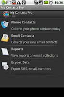 Screenshot of My Contacts Pro