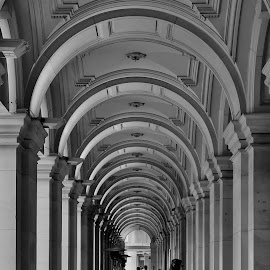 Walking through arches by John Torcasio - Buildings & Architecture Public & Historical ( post office, building, melbourne, gpo, shopping arcade )