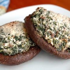 Portobello Mushrooms Stuffed with Spinach and Goat Cheese