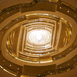 Spiral Escalator by Mike Woodard - Buildings & Architecture Architectural Detail ( nordstrom, architecture, san francisco, escalator )