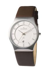 Skagen 'Grenen' Stainless Steel Case Watch, 38mm x 41mm