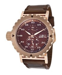 Invicta Men's I-Force Chronograph Brown Dial Brown Leather INVICTA-14643 Watch