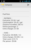 Screenshot of Fuel Fare