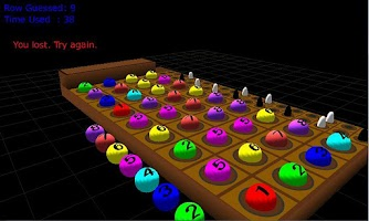 Screenshot of 3D Mastermind