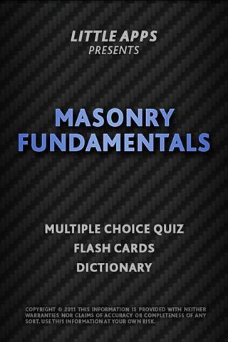 MASONRY FUNDAMENTALS QUIZ