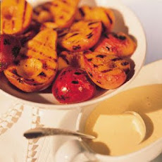 Mixed Grilled Fruits with Crème Anglaise