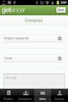 Screenshot of GetlancerGreen