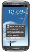 Screenshot of Mobile voice recorder light