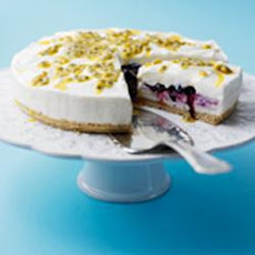 Blueberry and Passion Fruit Cheesecake
